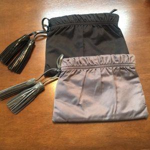 2 Gap Satin Clutch Bags
